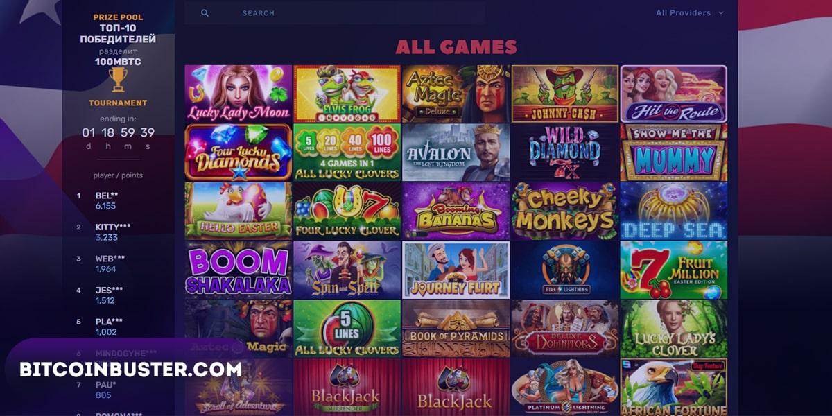 Available Games Bitcoincasino.us