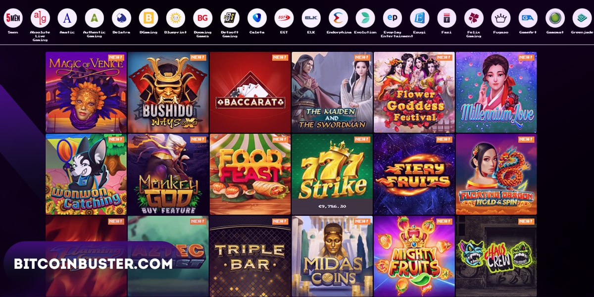 Aviable Games in Bitkingz Casino