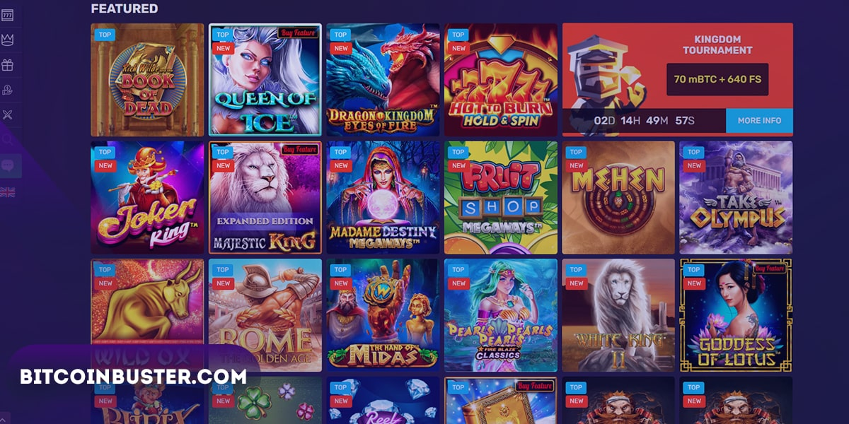 Games in Bitcoincasino.io