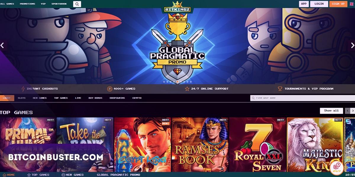 Bitkingz Casino Homepage
