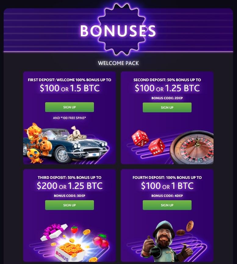 Bonuses in 7bit Casino