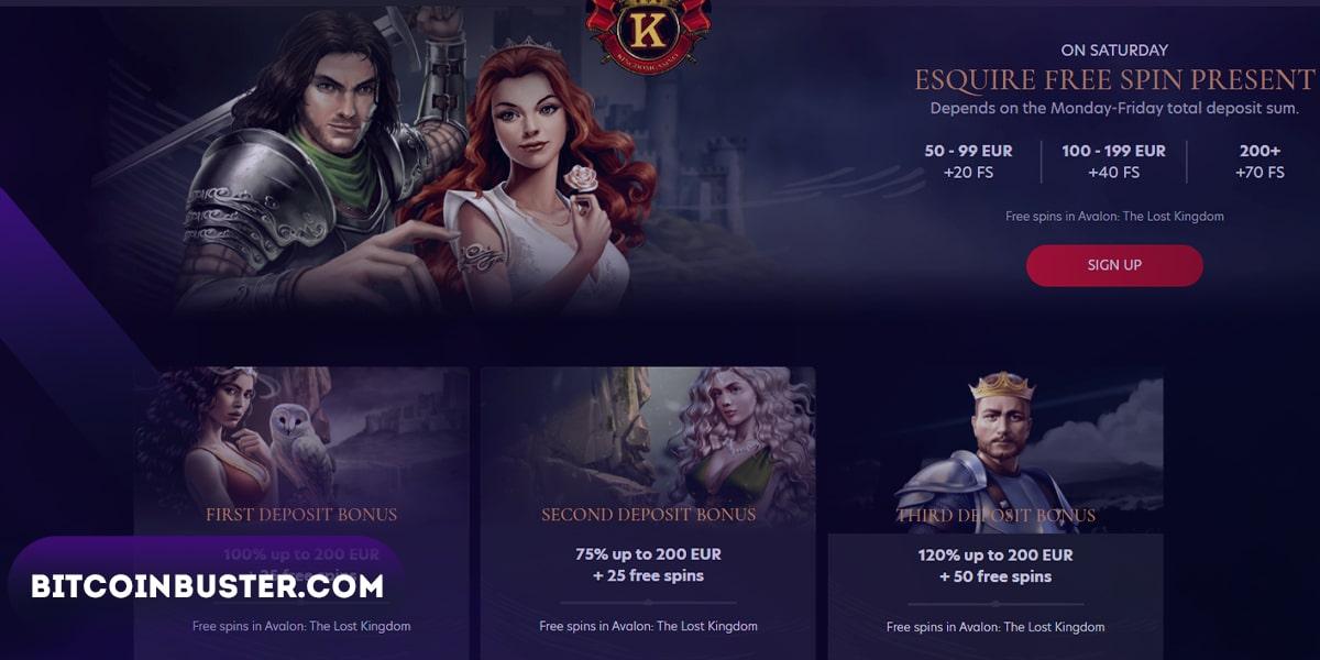 Bonuses in Kingdom Casino