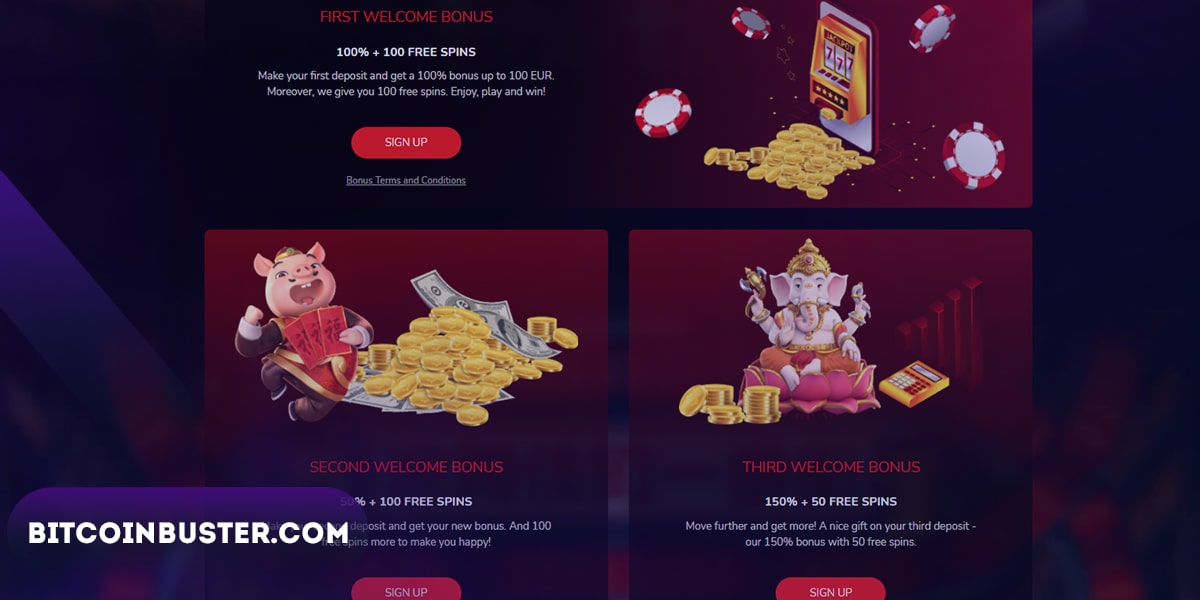 Bonuses in Oshi Casino