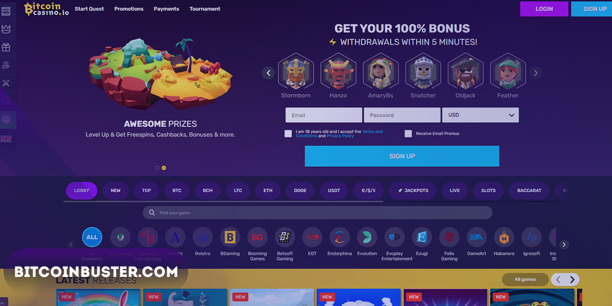Design & Usability in Bitcoincasino.io