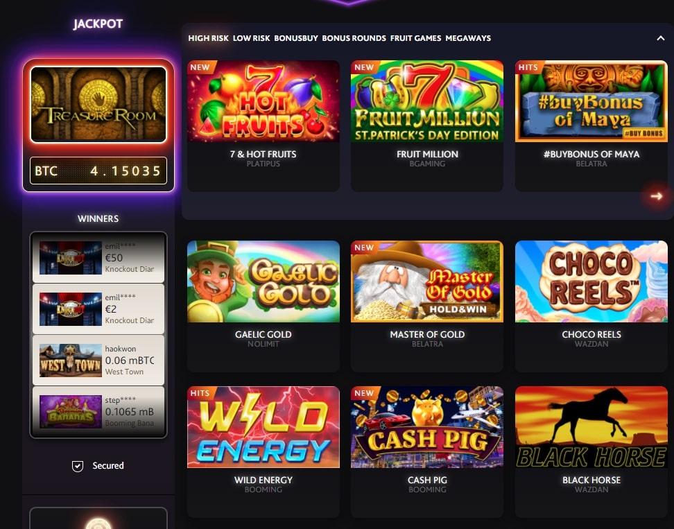 Games in 7bit Сasino.com