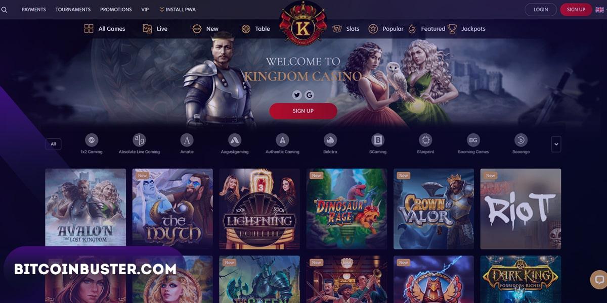 Homepage Kingdom Casino