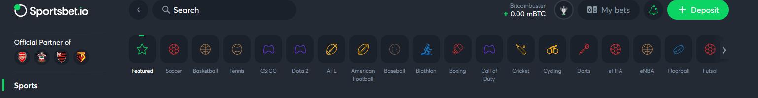 Sports On Sportsbet.io