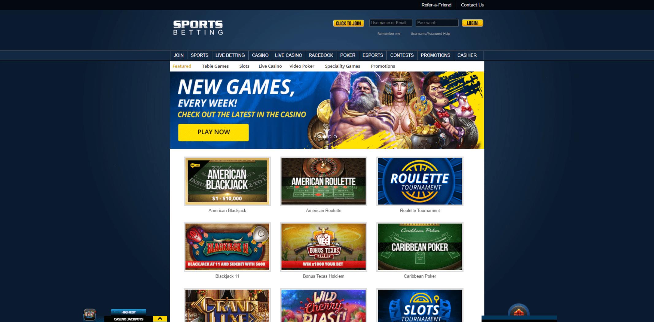Sportsbetting.ag casino