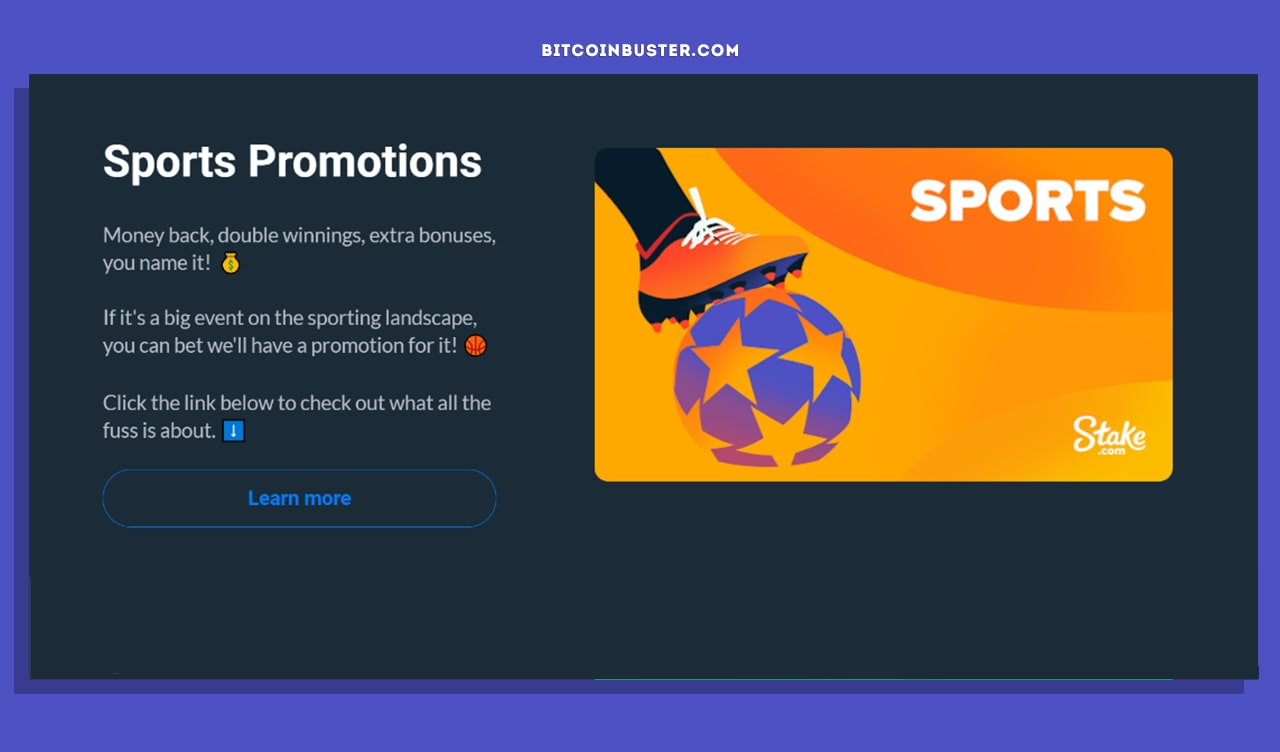 Stake Sports Promotions