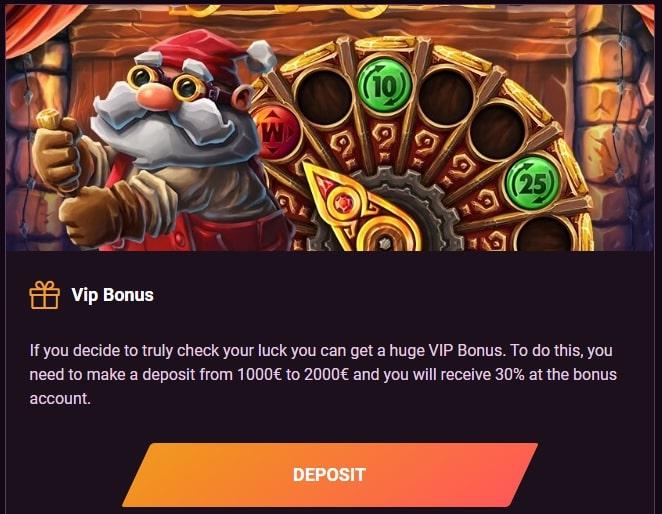 Vip Bonus in Casinonic
