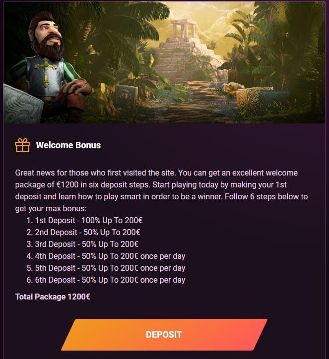 Welcome Bonus in Casinonic