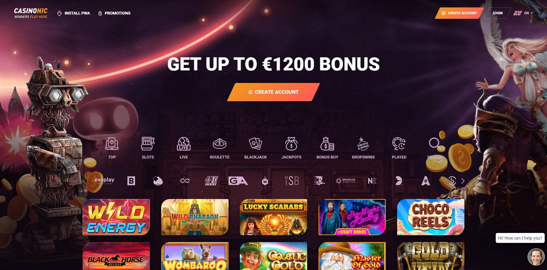 homepage casinonic casino