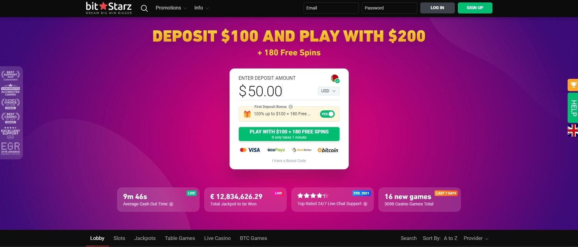 homepage bitstarz casino