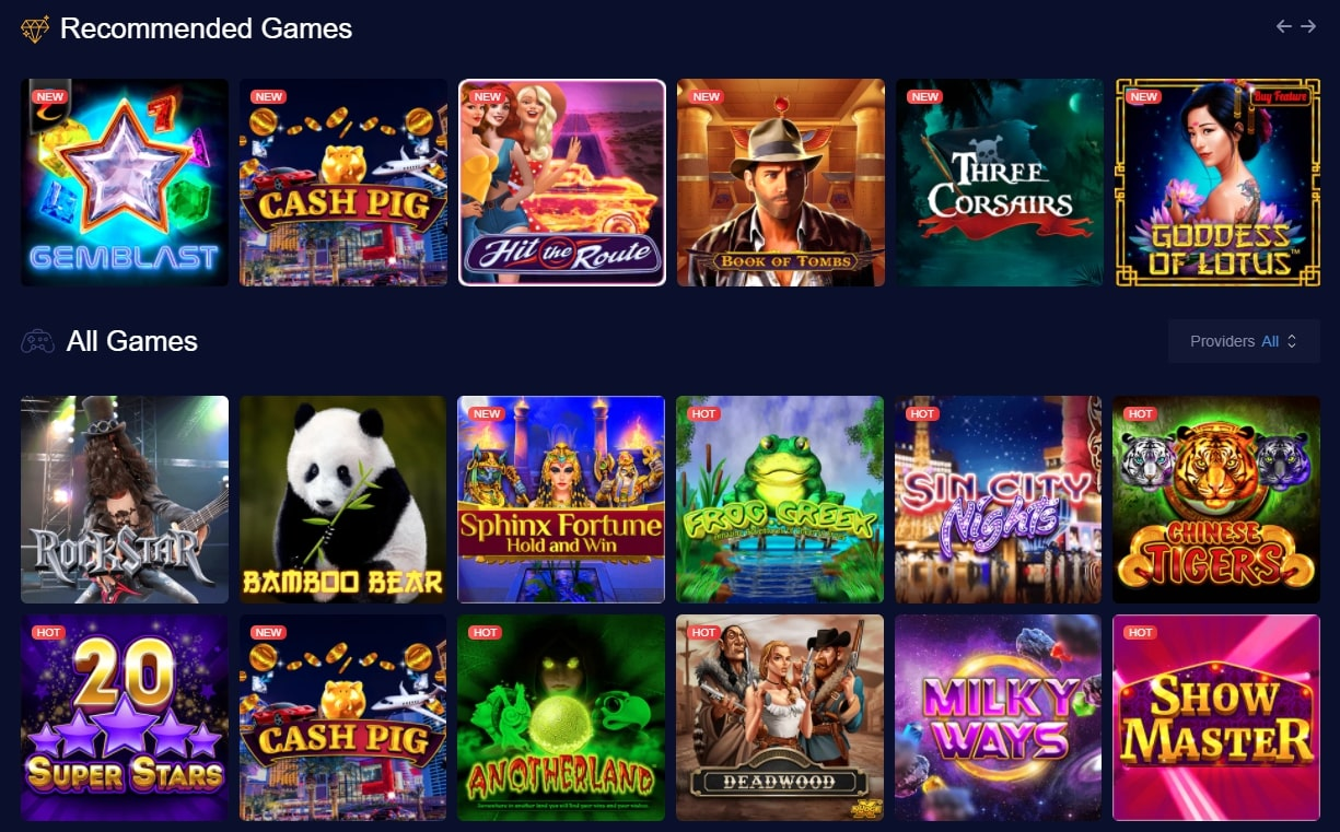 mbitcasino Recommended Games