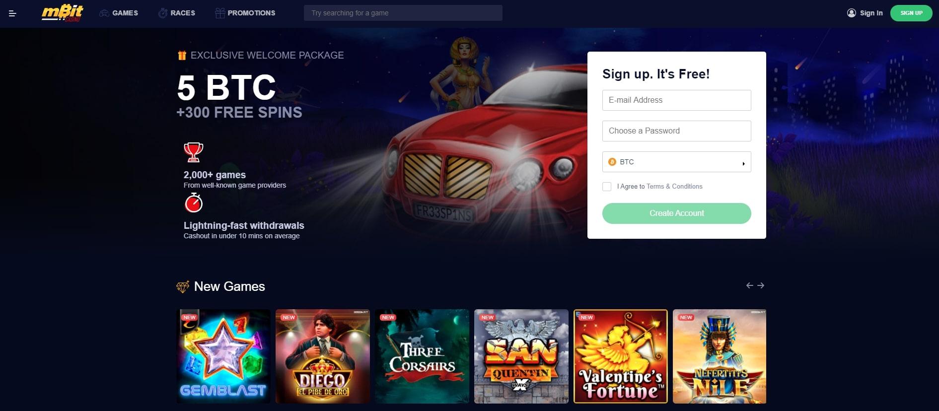 mbitcasino.com homepage