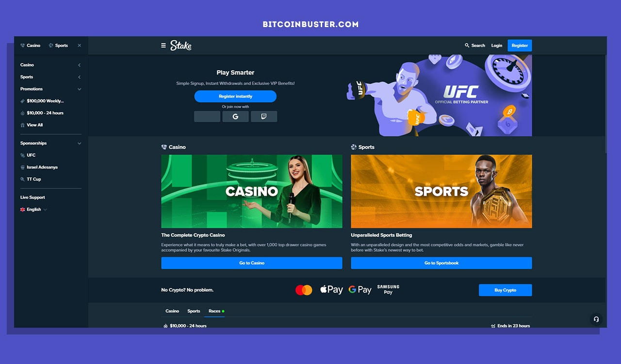 stake com homepage