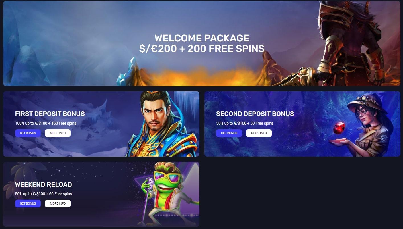 woo casino bonus page