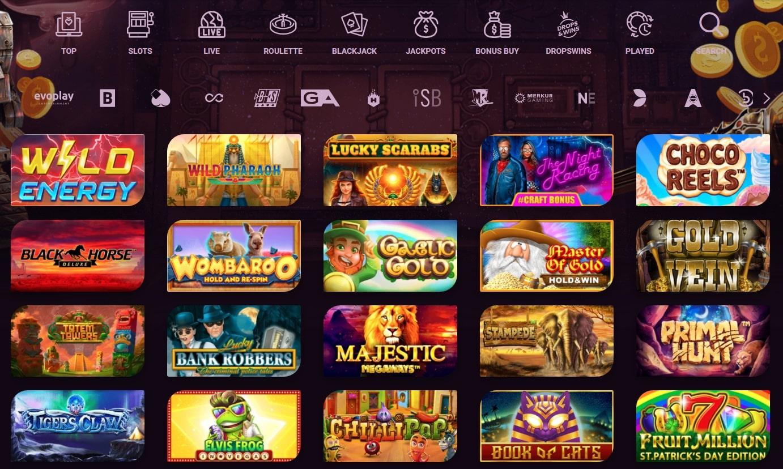 www.casinonic.com games